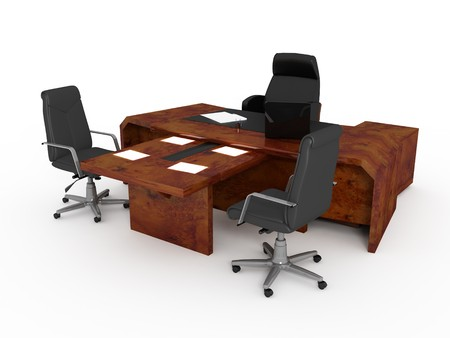 Set Of Office Furniture On A White Background Stock Photo Picture And Royalty Free Image 7918969
