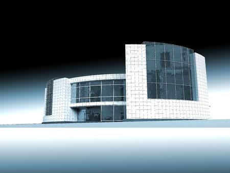 Estructura, construcción, arquitectura moderna, la ilustración, la modelo, la casa, la Oficina  Foto de archivo - 7918978