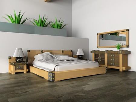 古典的なスタイルの 3 d イメージの寝室 写真素材