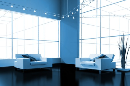 modern interior place for rest 3d image Stock Photo - 7966337