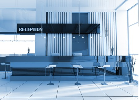 Hall of hotel in agoy 3d image Stock Photo - 7966341