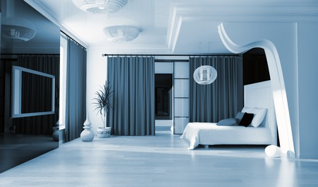 Bedroom in modern style 3d rendering Stock Photo - 8108481