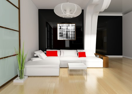 modern drawing room 3d image photo