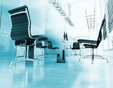 The modern inter of office 3d image Stock Photo - 8163116