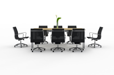 office furniture: Set of office furniture on a white background Stock Photo