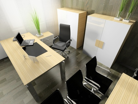 The modern interior of office 3d image Stock Photo - 8694985