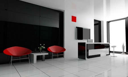 Hall of hotel in levili 3d image Stock Photo - 8694986