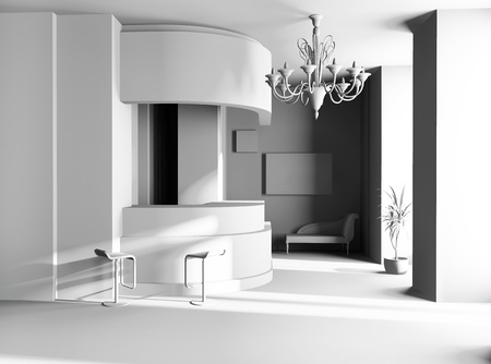 Hall of hotel in agoys 3d image Stock Photo - 8759710