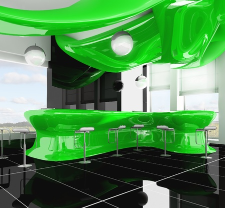 reception in modern hotel 3d image Stock Photo - 9298418