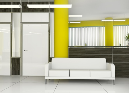 Place for rest at office ( 3d image ) photo
