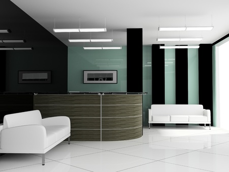 reception office: Place for rest at office ( 3d image )