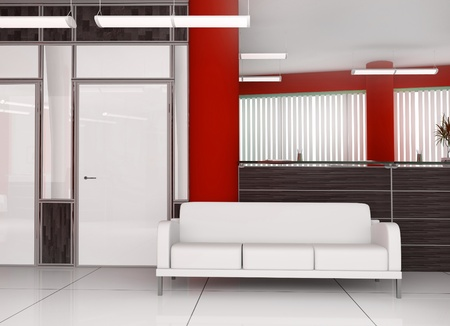 Place for rest at office ( 3d image ) Stock Photo - 9519114