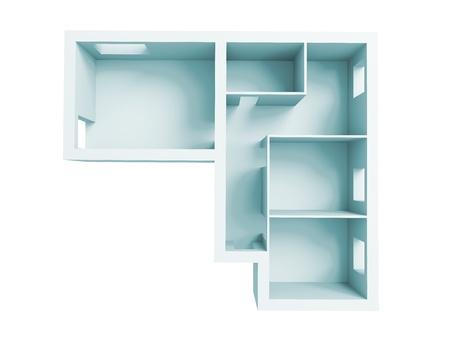 高解像度イメージのインテリア。アパートの建築プロジェクト。