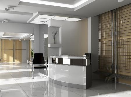 vestibulos: Sal�n de la oficina en agoy imagen 3d