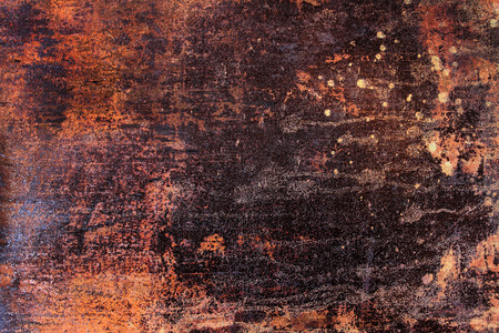 metal wall: fragment of a rusty abstract background