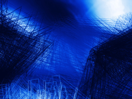 undulation: Abstract blue background, wave or veil texture