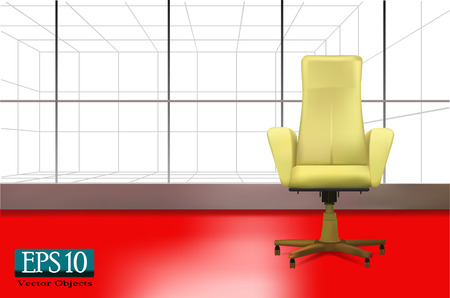 red light: Beige office chair (vector 10 eps)