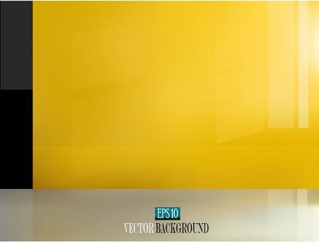 modern interior: Yellow wall in a modern interior vector eps10