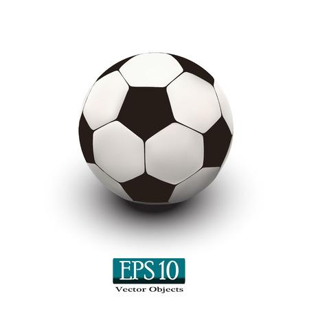 socca: pallone da calcio su sfondo bianco vettore eps 10