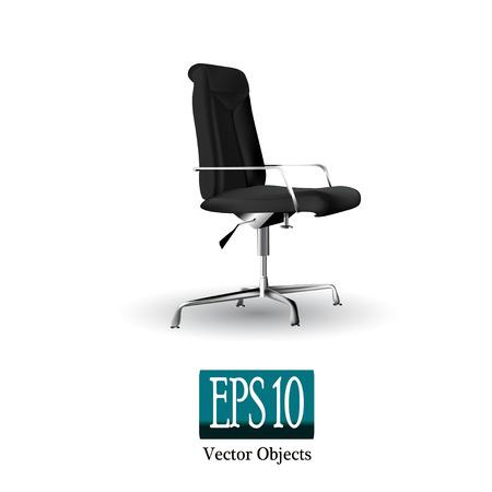 Noir chaise de bureau sur un fond blanc (vecteur 10 eps)