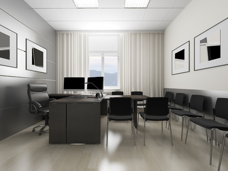 lightings: Office interior in classical style 3d rendering
