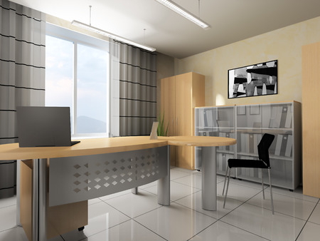 office life: Office interior in modern style 3d rendering