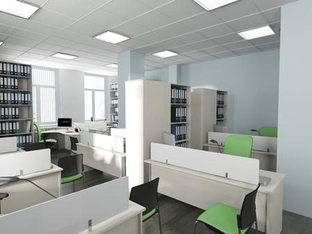 alumbrado: Interior de la oficina en estilo moderno representación 3d