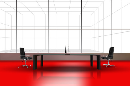 modern office interior: The modern interior of office, vector eps10