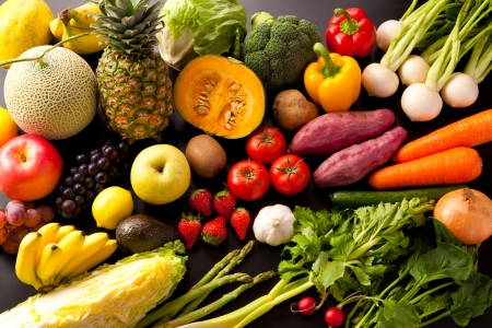 carot: Variety of vegetables and Fruits