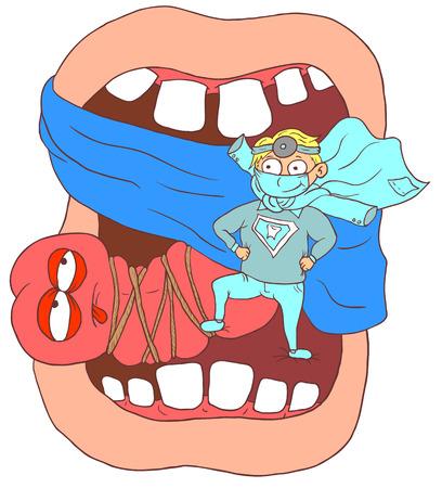 Dentist tamed language   Vector illustration  Vector