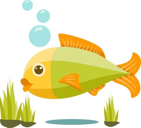 cute fish: Cute fish cartoon Isolated Vector