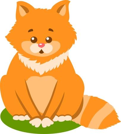Cute kitten Vector Isolated Illustration Illustration