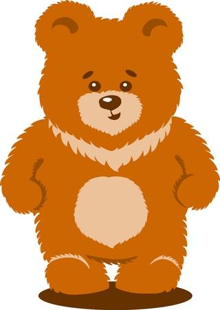 Cute brown bear Vector Isolated Illustration