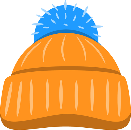 Winter seasonal hat. Vector illustration isolated on white background.