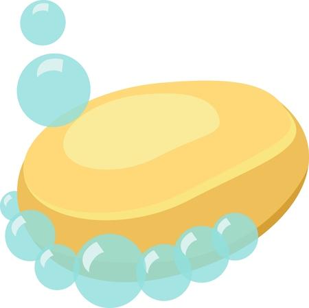 Soap Cartoon Vector Isolated Illustration
