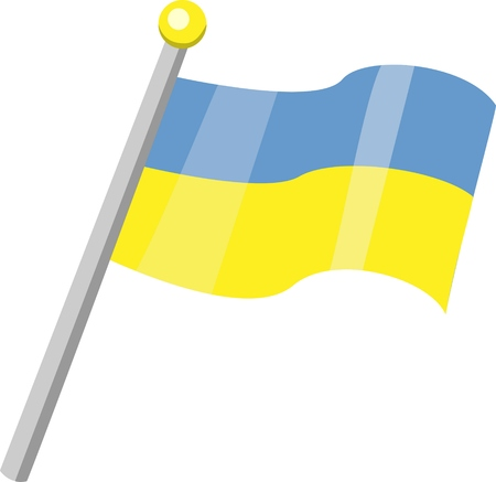 original and simple Ukraine flag isolated vector in official colors and Proportion Correctly Illustration