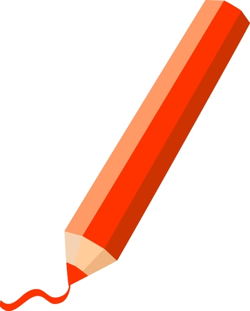 Pencils isolated on a white background. Vector Isolated Illustration