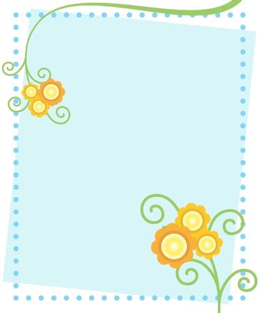 Cute Flowers Postcard.
