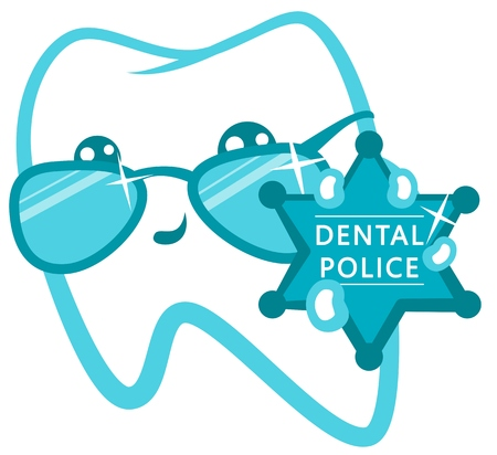 enamel: Dental Police. Cop With A Badge.