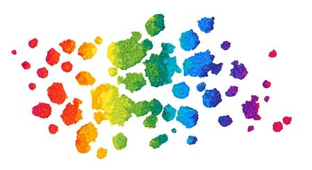 Rainbow Vector Watercolor Background.