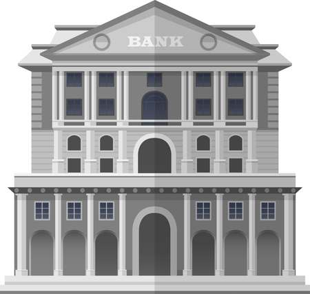 prestige: Bank of England London. Building architectural concept, Vector Isolated Illustration