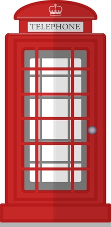 London phone booth isolated on white photo-realistic vector illustration. flat design