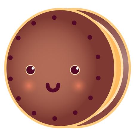 Sweet Cute Round Tasty Cookie.