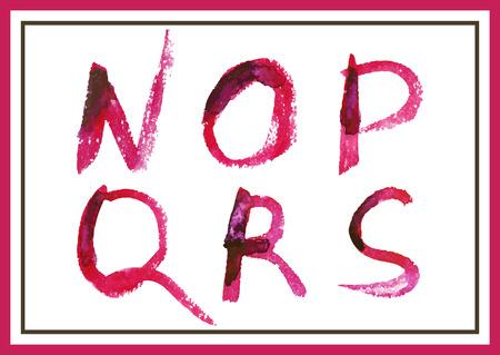 現代水彩のアルファベット。水彩のフォントです。ABC には、文字が描かれています。モダンなレタリングを磨いた。塗装のアルファベット。
