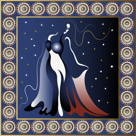 harem: Turkey. Vector illustration. Turkish woman dancer in the night poster or card.