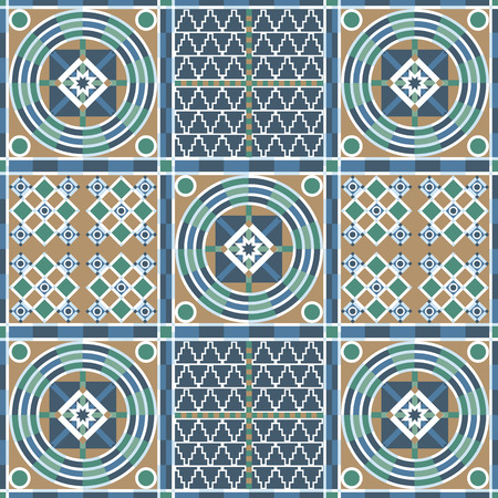 patchwork background: Vector seamless patchwork background from ornaments, geometric patterns.  Moroccan texture.