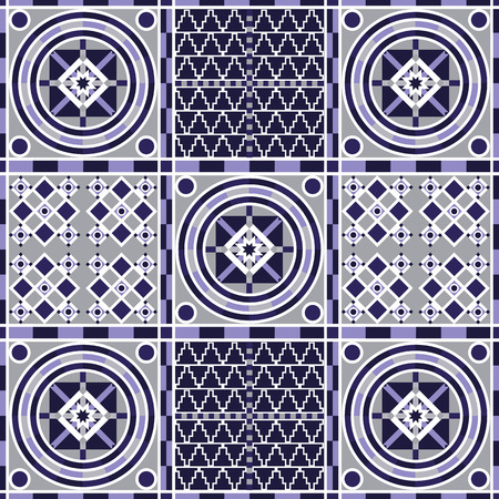 patchwork background: Vector seamless patchwork background from ornaments, geometric patterns. Moroccan texture. Illustration