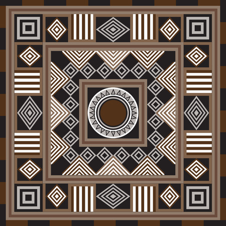 decorative pattern: Geometrical abstract pattern from decorative ethnic ornament elements .  African, Mexican, Turkmen texture (background) for packing, textile, interior, web design.
