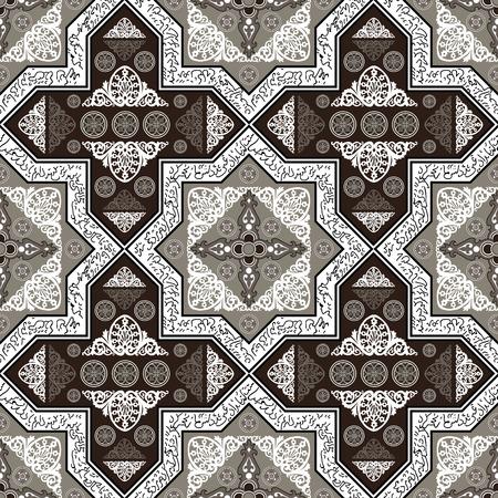 blumen abstrakt: Floral abstrakte nahtlose Muster von dekorativen Elementen ethnische Verzierung.
