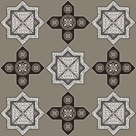 blumen abstrakt: Floral abstract seamless pattern from decorative ethnic ornament elements . Illustration